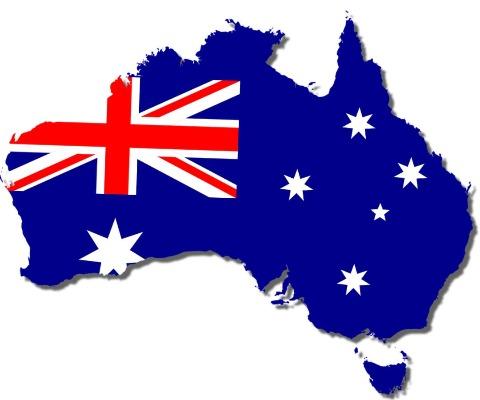 Australia Map 480 x 400